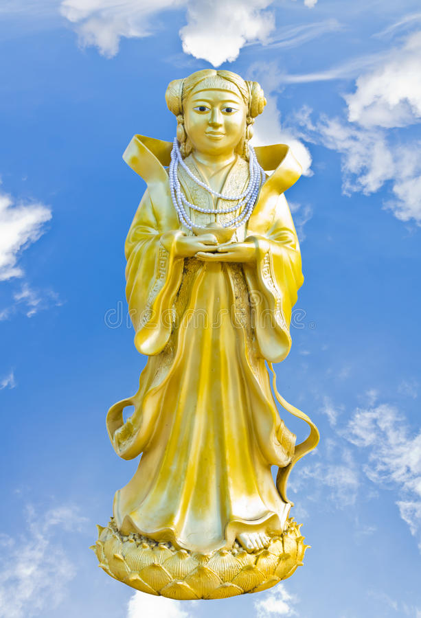 Chinese Statue At The Temple Stock Photography