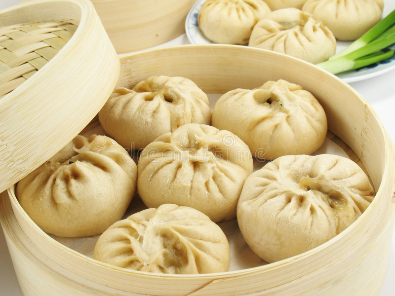Chinese Steamed Buns royalty free stock images