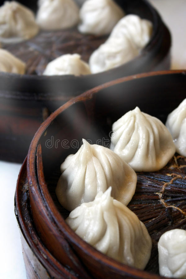 Chinese steamed buns. Is a traditional food in China stock image