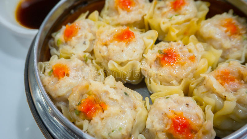 Chinese steamed dumpling. Image closeup royalty free stock photo
