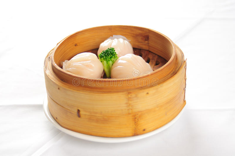 Chinese steamed meat buns stock photo