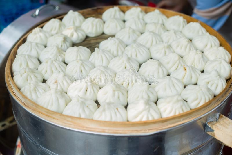Steamed stuffed bun royalty free stock images