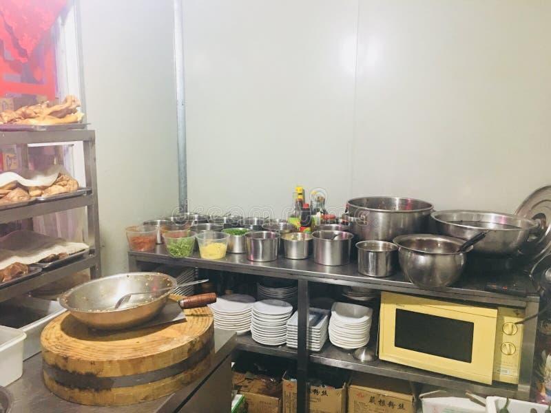 Chinese stewed vegetable roomSeasoning. Fang Tai Zhen Tai shun Lu, Jiading district, Shanghai city stock photography