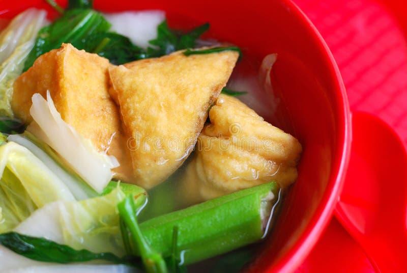 Chinese stijl vegetarische soep royalty-vrije stock afbeeldingen
