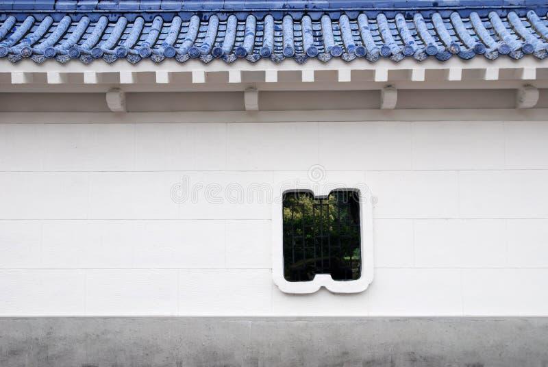 Chinese stijlmuur. royalty-vrije stock fotografie