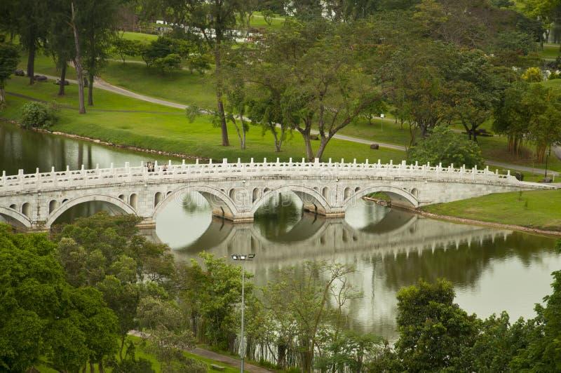 Download Chinese Stone Bridge stock image. Image of railing, grass - 12253019