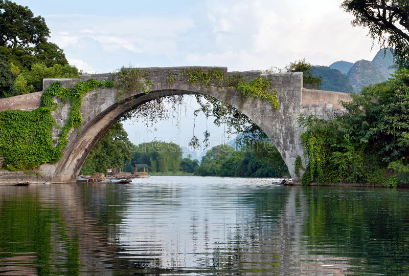 Chinese Stone Bridge Stock Photos