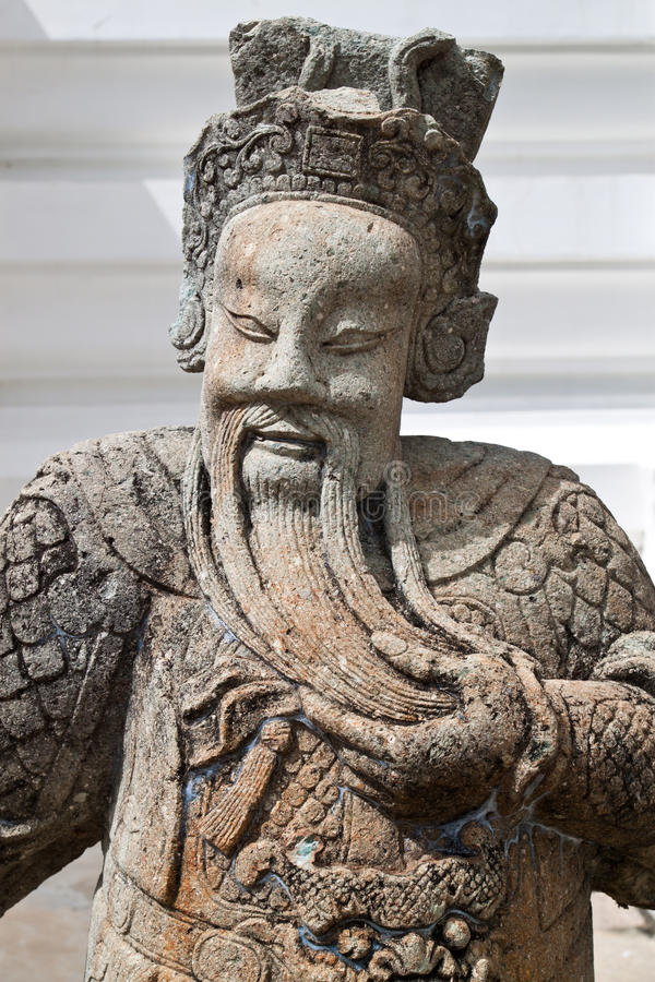 Chinese Stone Sculptures. Standing infront of grand palace royalty free stock photography