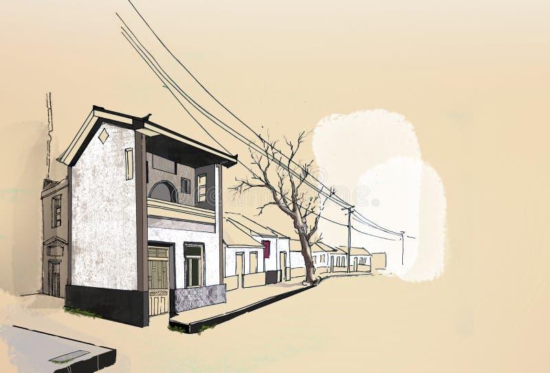 Chinese straat stock illustratie