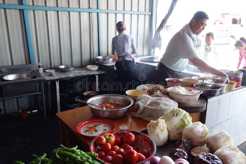 Chinese Straat Moslimrestaurants royalty-vrije stock afbeeldingen