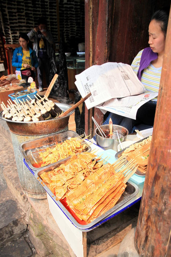 Download Chinese Street Food Vendor editorial stock image. Image of china - 25316529