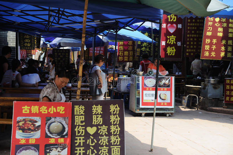 Download Chinese Street restaurants editorial photography. Image of build - 26560377