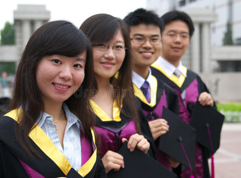 Download Chinese students stock photo. Image of graduate, college - 15366854