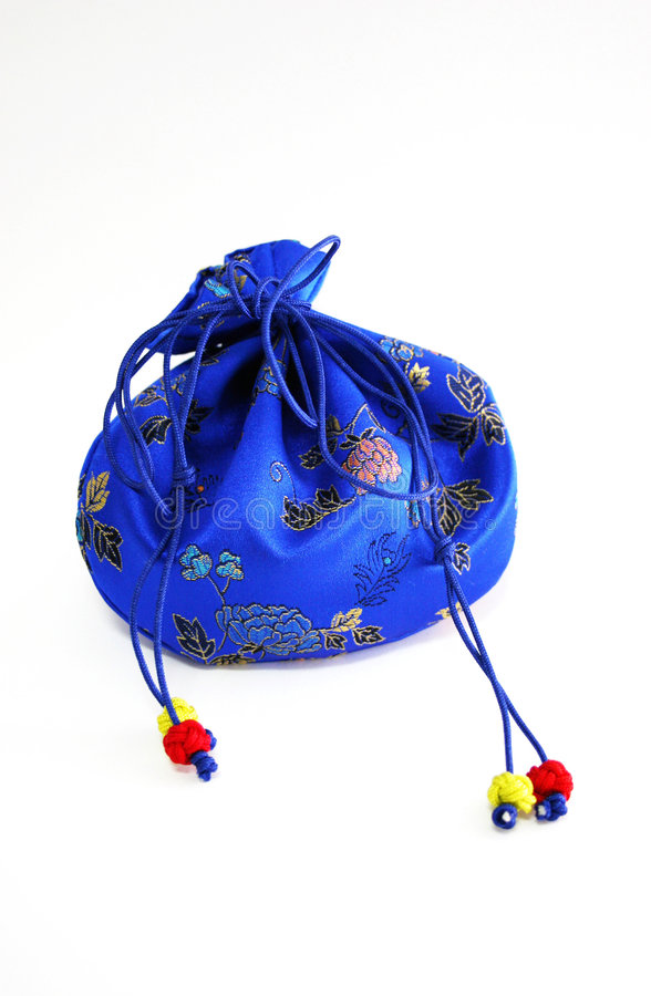 Chinese-style bag - isolated royalty free stock photos