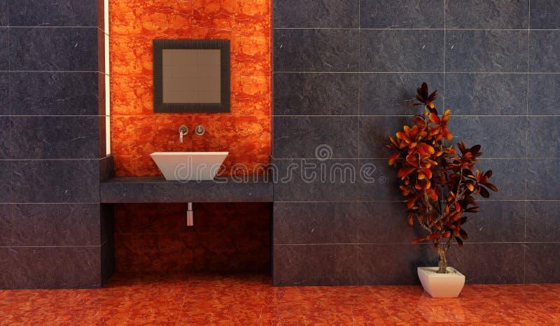 Chinese style bathroom interior royalty free illustration