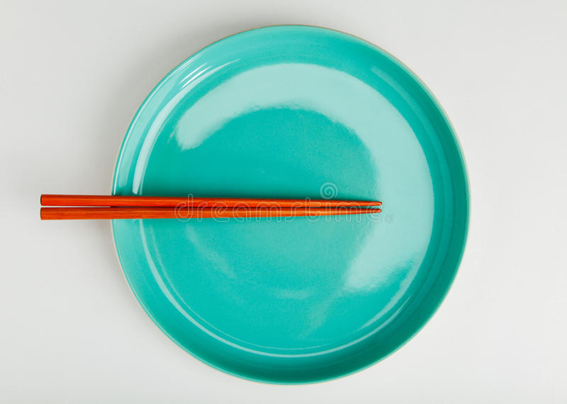 Download Chinese Style Chopsticks Put On Green Dish Stock Photo - Image: 31323976