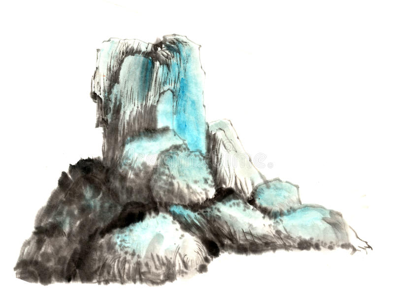 Chinese-style drawings, Unreal, Taoism,immortal, Landscape royalty free illustration