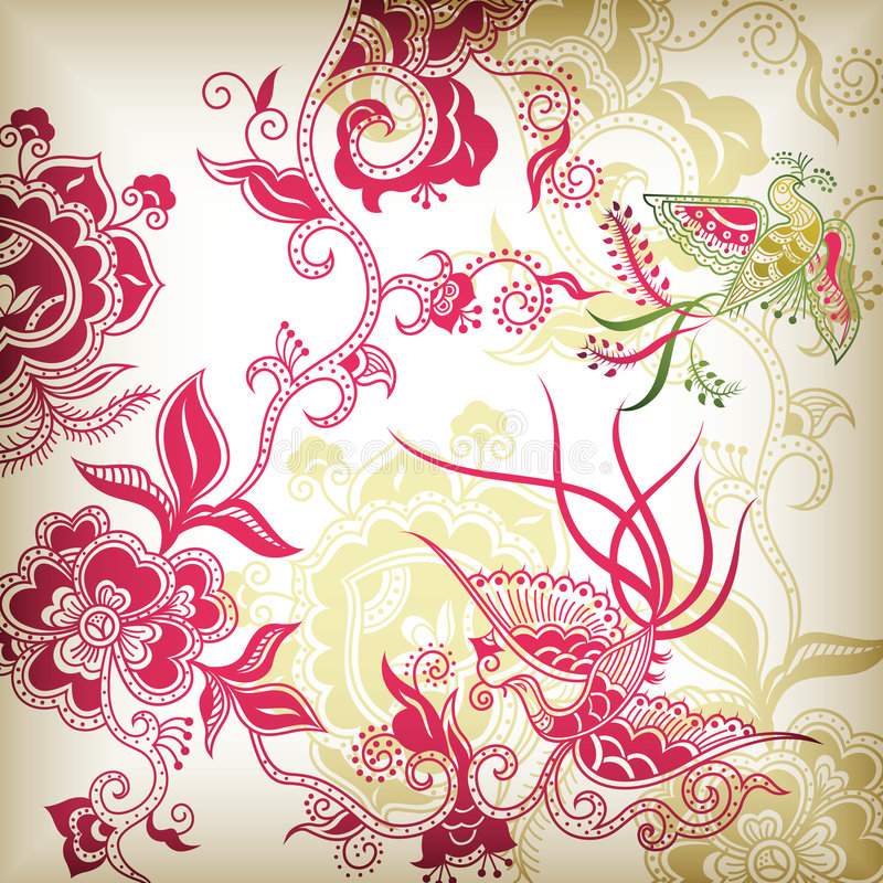 Download Chinese Style Floral And Bird Stock Vector - Image: 8873844