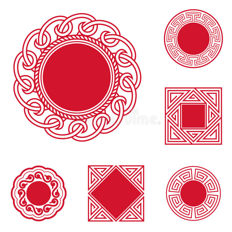 Chinese Style Frames royalty free illustration