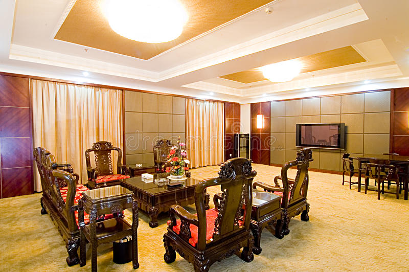 Chinese-style furniture stock image