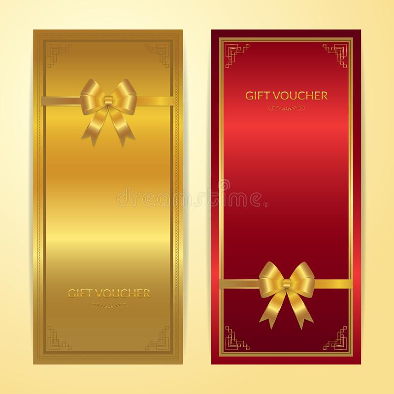Download Chinese Style Gift Certificate, Voucher, Gift Card Or Cash Coupo Stock Vector - Illustration of label, card: 107670014