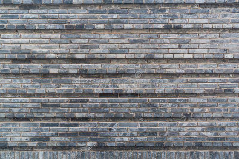 Chinese style gray brick wall stock images