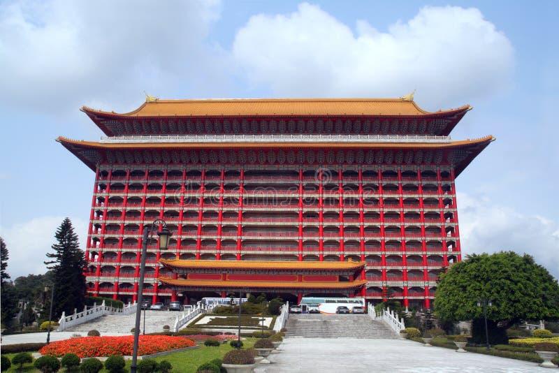 Chinese style hotel stock photo