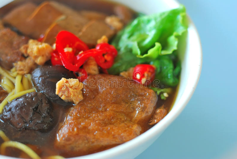 Chinese style vegetarian soup noodles royalty free stock photography