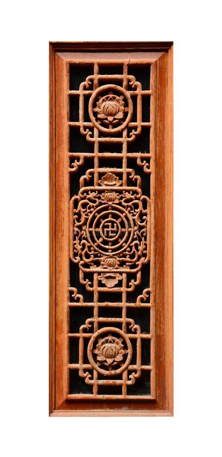 Chinese style window frame, on white background stock image