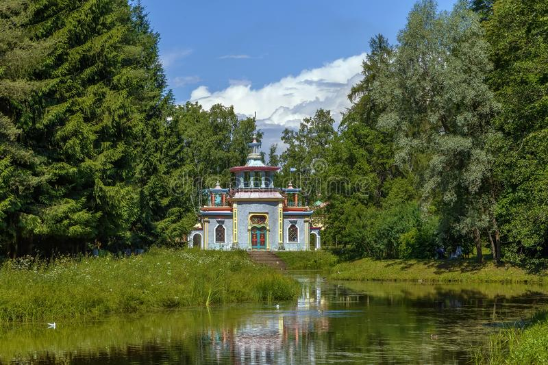 Chinese Summer House, Tsarskoye Selo, Russia royalty free stock images