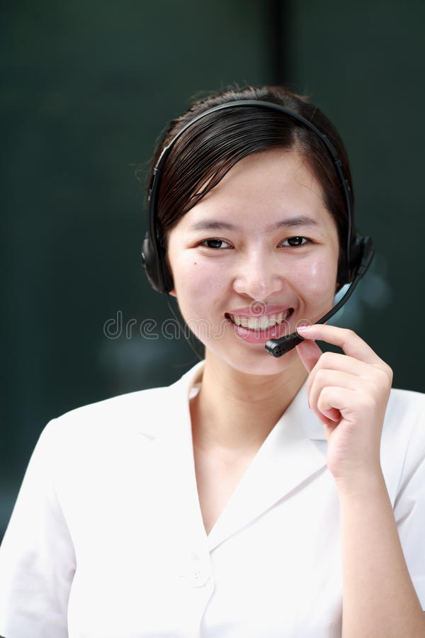 Chinese Sustomer Service Agent Royalty Free Stock Photos