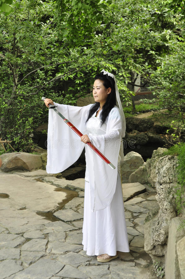 Download Chinese swordswoman editorial photography. Image of ceremonial - 41572232