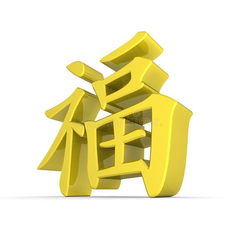 Chinese Symbol of Happiness - Yellow