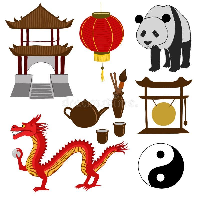 Chinese Symbols Vector Illustration Stock Illustration