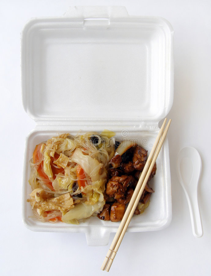 Chinese takeaway food stock images