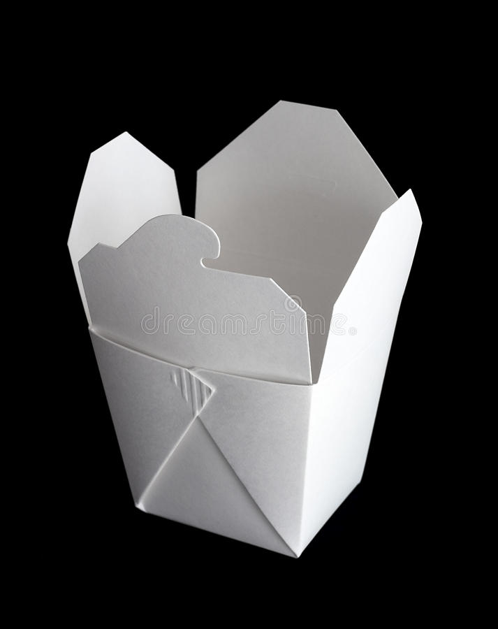 Chinese takeout box royalty free stock photo