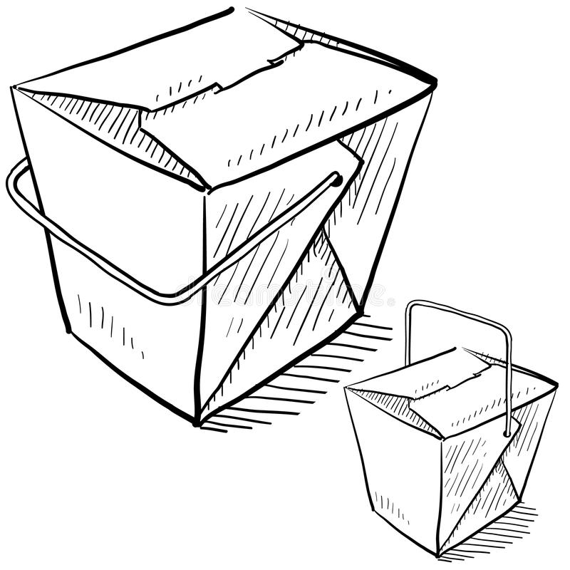 Download Chinese takeout boxes stock vector. Image of handle, chinese - 23158346