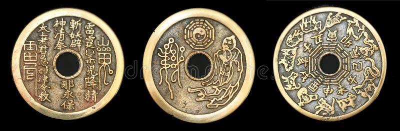 Chinese Taoist muntstukken stock afbeelding