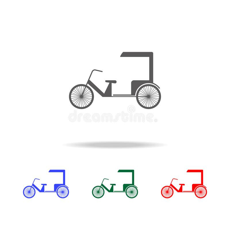 Chinese taxi icon. Elements of Chinese culture multi colored icons. Premium quality graphic design icon. Simple icon for websites, stock illustration