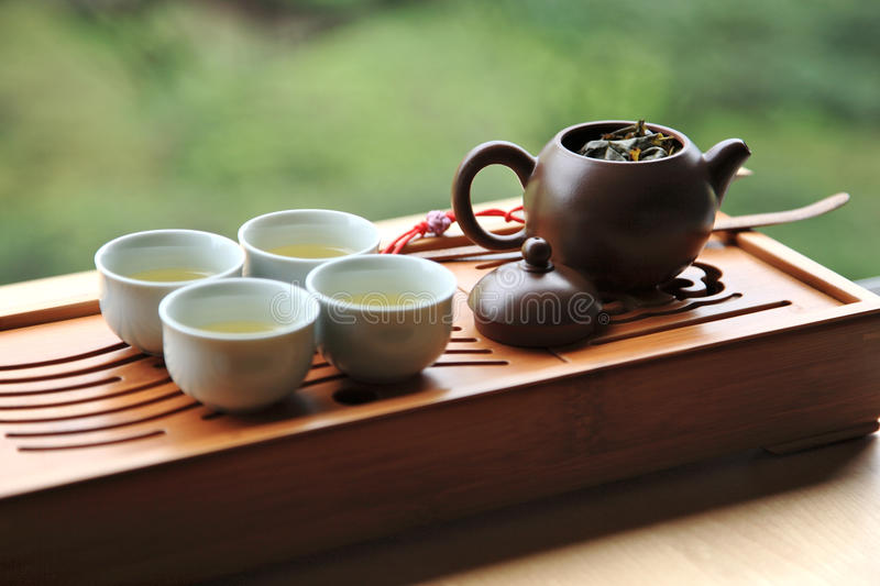 Chinese Tea. Gong Fu Tea is A Part Of Chinese Traditional Culture. Art Or Lifestyle stock image