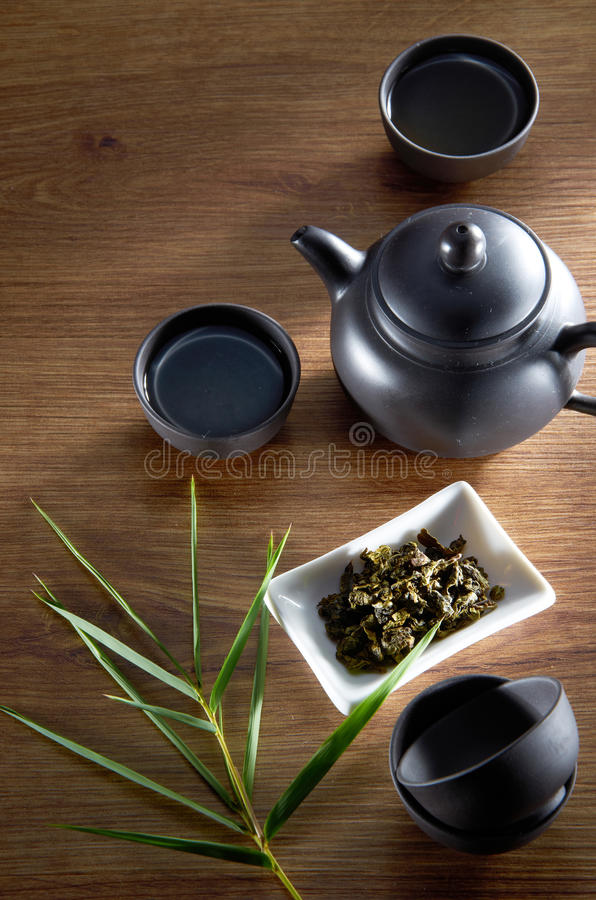 Chinese Tea. Still life chinese tea on wooden background stock images