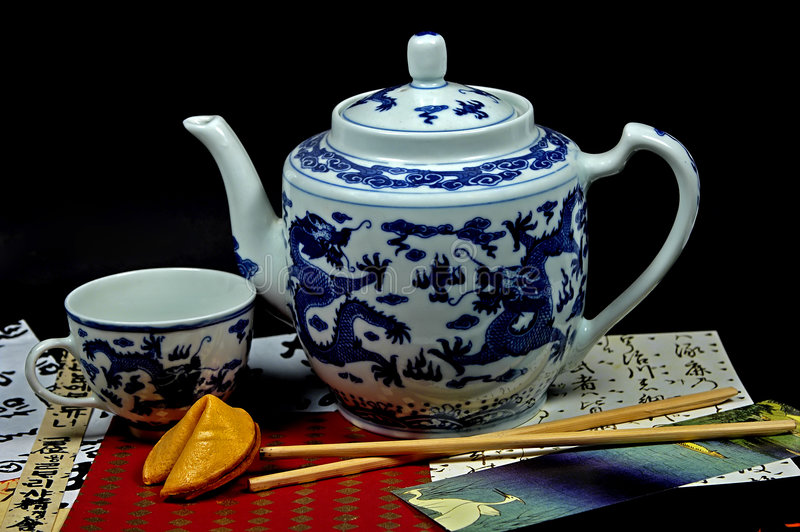 Download Chinese Tea stock photo. Image of snack, kettle, drink, dragon - 25596
