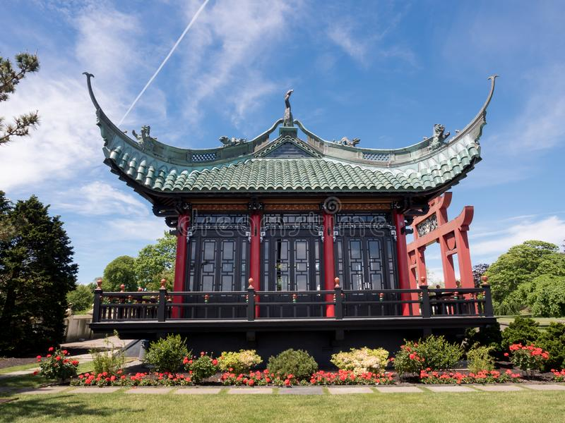 Chinese Tea House on the Marble house ground, Newport, RI royalty free stock photos