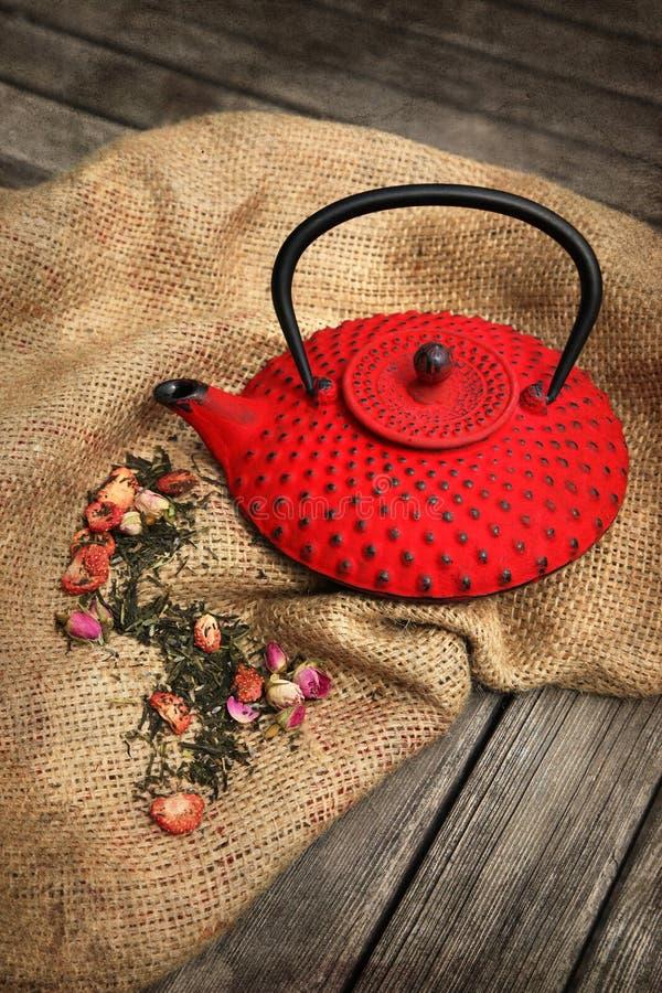 Chinese tea pot stock photography