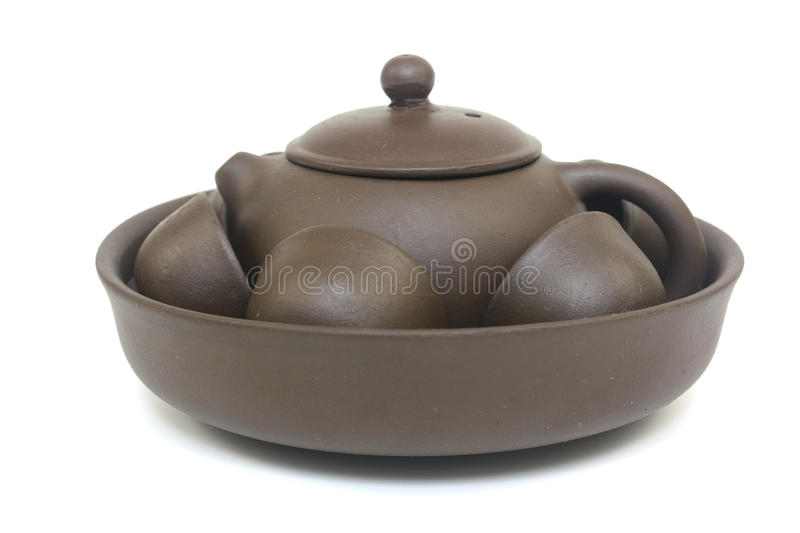 Download Chinese Tea Pot Set stock photo. Image of clay, canteen - 16243050
