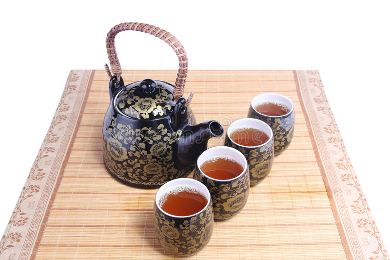 Chinese tea service stock image