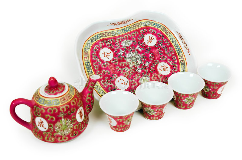 Chinese Tea Set royalty free stock photos