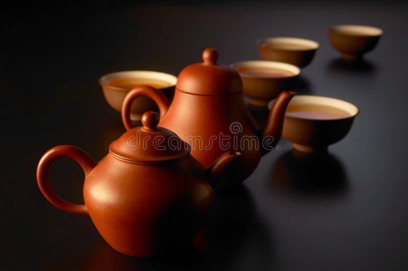 Chinese tea set stock photography