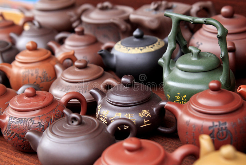 Chinese tea set royalty free stock photo