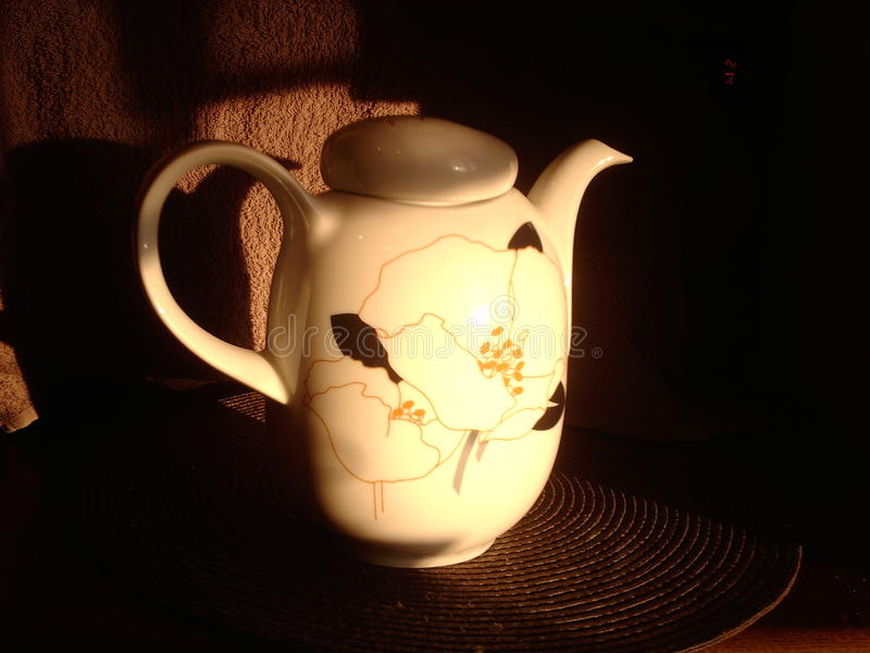 Chinese teakettle. On sunset light stock photo